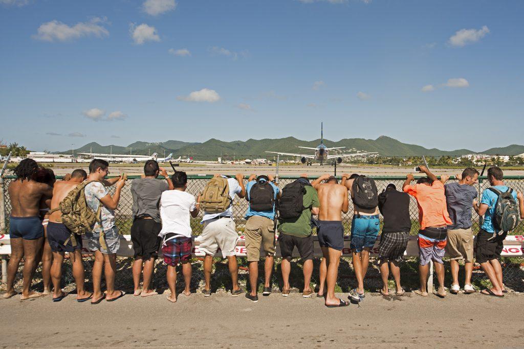 Start samolotu w Sint Maarten